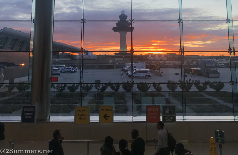 Sunrise at Dulles Airport in Washington DC